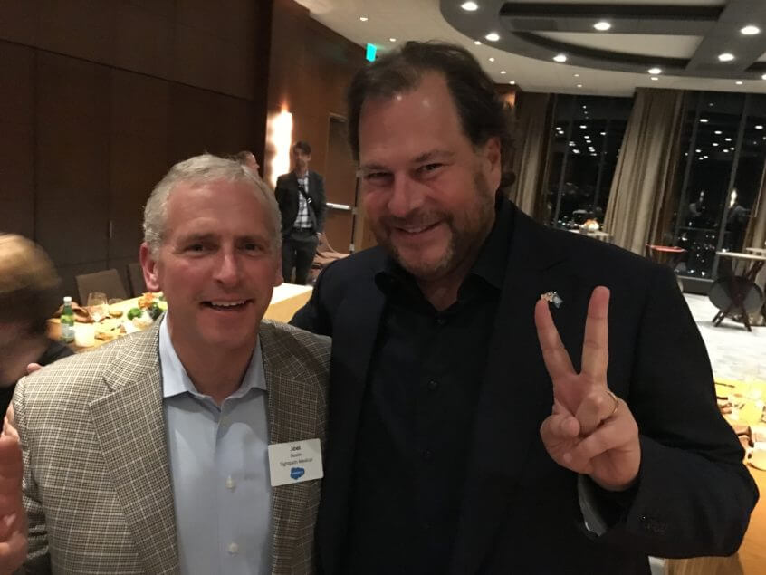 Marc Benioff CEO of Salesforce and Joel Gaslin